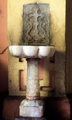 Alabaster Holy Water Font