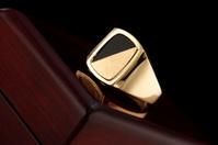 Men Onxy Gold Ring
