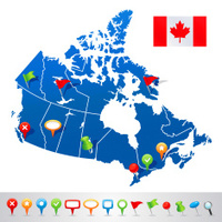 Mapa Dos Desenhos Animados DO Canadá Fotos Do Acervo FreeImagescom - Canada mapa