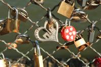 Padlocks with Paris heart love