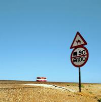 Traffic sign in the desert
