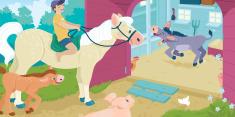 Animals At The Farm Barn