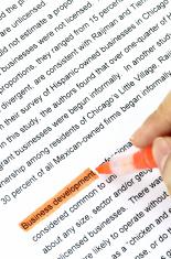 Business development in document