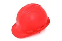 Worn Construction Hard Hat