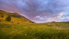 After storm Karst sunset