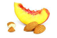 Sweet almonds with nectarine