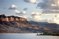Wyoming Butte And Lake at Sunset