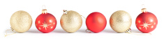 Gold and Red baubles