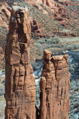 Spider Rock At Canyon De Chelly (Rock Formation) Arizona