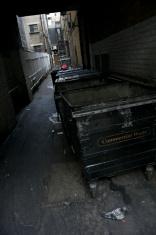 Waste Bin Dark Alley