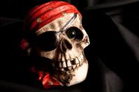 Pirate Skeleton on black