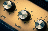 Volume Knob on a Guitar Amplifier, Retro Mood