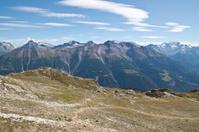 High panorama of Wallis, Switzerland