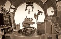 Old bomber cockpit