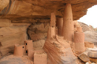 Telem Granary in Dogon Village, Mali