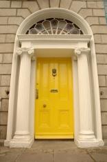 yellow victorian door
