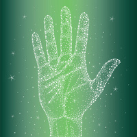 Handprint in the sky with diamonds