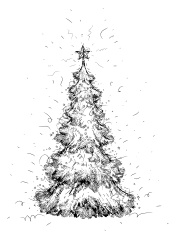 Pencil Drawing of A Christmas Tree stock photos - FreeImages.com