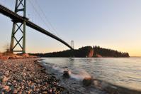 Lions Gate Bridge at sunset