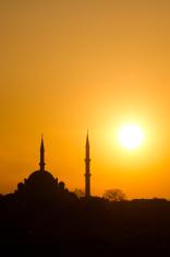 Mosque at sundown