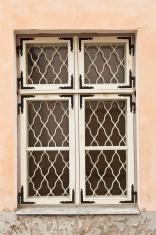 Window in medieval house Tallinn Estonia