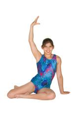 Twelve year old girl in gymnastics poses