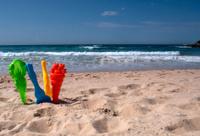 Sand Toys in the beach