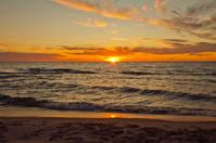 Beautiful sunset on Lake Michigan Summertime