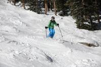 woman mogul skier