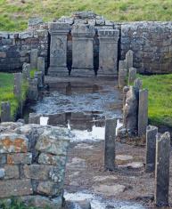 Carrawburgh Mithraeum Roman temple ruins