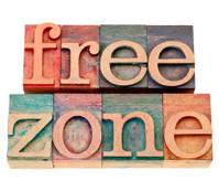 free zone in letterpress type