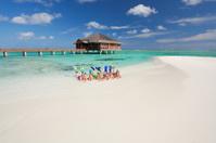 snorkeling people stranded in paradise