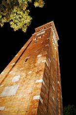 Tower church at night