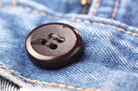 jeans button close up