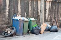 Rubbish And Litter Bins Full Of Trash