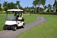 empty golf cart