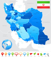 Iran - highly detailed map