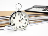 Alarm clock with paperwork