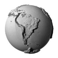 Gray Globe - South America