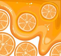 Orange Slices In Sparkling Juice