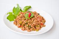 Delicious Thai food call PUD KAPRAO MOO