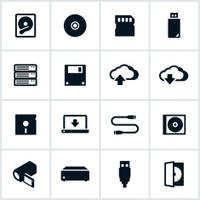 Digital Data Storage Icons
