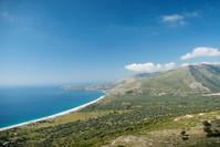 south albania coast with beach and mountains