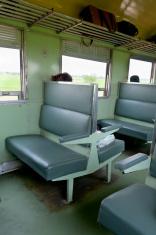Second Class Train Cabin In Thailand