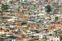 Favela of Caracas city.