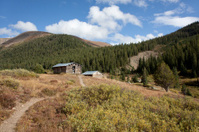 Log Cabin Ghost town of Independence Aspen Colorado Horizontal
