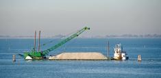 Gravel Barge in Venice
