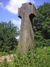 Religious cross in the stinging nettles