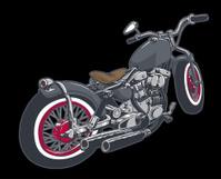 chopper bobber custom motorcycle