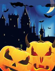 Halloween pumpkin head monsters